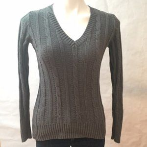 Old Navy Gray V-Neck Sweater Size S Small